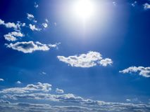 Fantastic soft white clouds against blue sky Stock Image