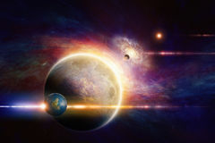 Fantastic space background Royalty Free Stock Photos
