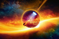 Fantastic space background Stock Image