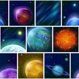 Fantastic space background, seamless Royalty Free Stock Photos