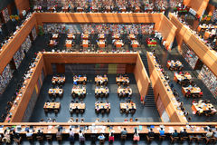 Fantastic space in Modern library Stock Photo