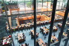 Fantastic space in Modern library Stock Photography