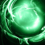 Fantastic sphere. Fantastic 3d sphere with green illumination Royalty Free Stock Photography