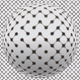Fantastic sphere with seamless surface Royalty Free Stock Photo