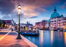 Free Fantastic Spring Sunrise In Venice With San Simeone Piccolo Church. Colorful Evening Scene In Italy, Europe. Magnificent Royalty Free Stock Image - 159461926