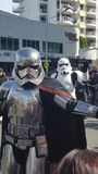 Fantastic Star Wars characters at Broadbeach, Queensland royalty free stock photos