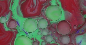 Fantastic structure of colorful bubbles. Chaotic motion. Abstract background. Fantastic structure of colorful bubbles. Chaotic motion. Abstract colorful paint stock video