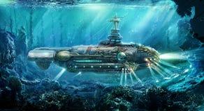 Free Fantastic Submarine Royalty Free Stock Photos - 37747838