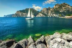 Fantastic summer landscape, Lake Garda, Torbole resort town, Italy, Europe Stock Photos
