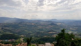 Rural inspirational landscape. Fantastic summer rural inspirational landscape in Marche, an italian region stock photos