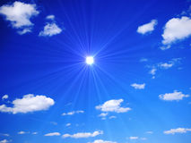 Fantastic Summer Sky. Fantastic Blue Sky with beautiful clouds Royalty Free Stock Photography