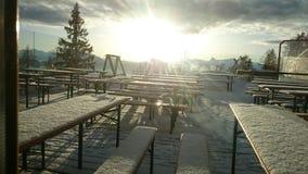 Sun panorama on the Tauplizalm Stock Images