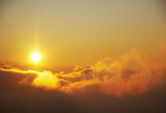 Fantastic sunrise stock images