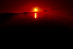 Fantastic sunrise over the earth Royalty Free Stock Photo