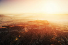Fantastic sunrise over the Red Valley in Cappadocia, Anatolia, T Royalty Free Stock Photos