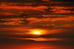 Fantastic sunset Royalty Free Stock Images