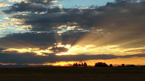 Fantastic Sunset Colorado Wide Shot stock video footage