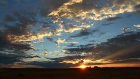 Fantastic Sunset Colorado Wide Shot stock video