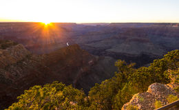 Fantastic sunset at Grand Canyon Royalty Free Stock Photo