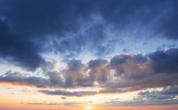 Fantastic sunset in the mountains cumulus clouds. Carpathian, Uk Stock Images