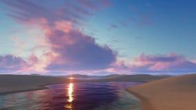 Fantastic sunset in unique Brazil desert stock footage