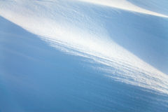 Snow drifts in the sunlight Royalty Free Stock Images