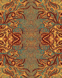 Fantastic thread pattern. Computer processing of photos stock image