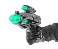 Fantastic toy gun. Isolated on white background Stock Photos