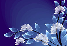 Fantastic transparent flowers Stock Image