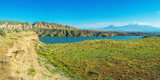 The fantastic travel. Armenia boasts picturesque highland nature, unique landscapes and many ways to discover it, Azat Reservoir, Ararat Province Stock Photos