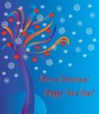 Fantastic tree holidays card Stock Photo