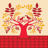 Fantastic tree with love message Royalty Free Stock Photos