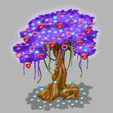 Fantastic tree with strawberry and heart toy Stock Images