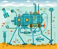 Fantastic underwater machine Royalty Free Stock Photo