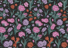 Free Fantastic Vector Seamless Vintage Floral Pattern. Stock Images - 38202714