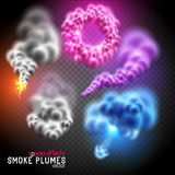 Fantastic Vector Smoke Flumes Royalty Free Stock Photos