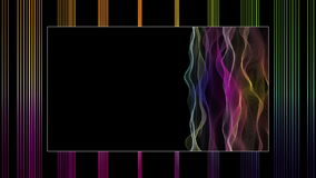 Fantastic video animation with waves, stripes in motion, loop HD 1080p stock video