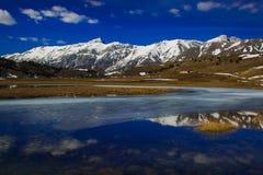Fantastic view of abruzzo landscape in the national park of Gran Sasso and Monti della Laga. Abruzzo stock image