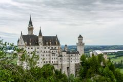 Fantastic view of a castle in bavaria stock images
