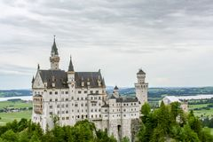 Fantastic view of a castle in bavaria royalty free stock image