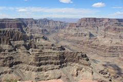 Clorado River panoramic view in Grand Canyon, Arizona, Usa royalty free stock photos