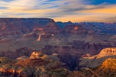 Fantastic view into the grand canyon from mathers point. South rim royalty free stock photography