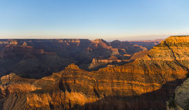 Fantastic view into the grand canyon from mathers point. South rim royalty free stock image
