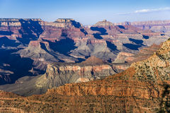 Fantastic view into the grand canyon from mathers point. South rim royalty free stock images