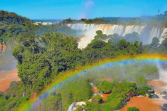 Fantastic view of Iguazu falls. Stock Images