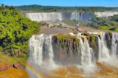 Fantastic view of Iguazu falls. Royalty Free Stock Photography