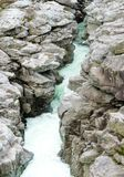 Fantastic view of the Maggia river carving ist way through a wild rocky gorge. A fantastic view of the Maggia river carving ist way through a wild rocky gorge stock image