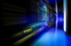 Fantastic view of the mainframe in the data center rows Stock Images