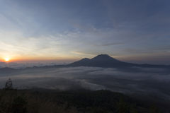 Fantastic view from the Mount Batur Stock Photography