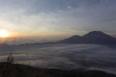 Fantastic view from the Mount Batur Stock Photos